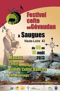 Affiche 2013 du Festival celte en Gevaudan